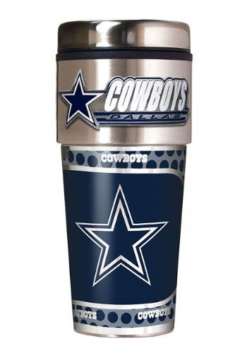 NFL Dallas Cowboys 16 oz. Tumbler w/ Metallic Graphics
