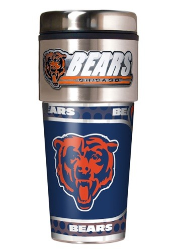 NFL Chicago Bears 16 oz. Tumbler w/ Metallic Graphics