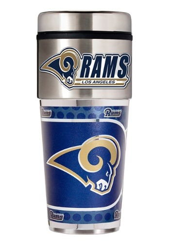 NFL Los Angeles Rams 16 oz. Tumbler w/ Metallic Graphics