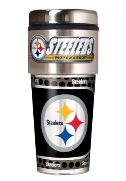NFL Pittsburgh Steelers 16 oz. Tumbler w/ Metallic Graphics