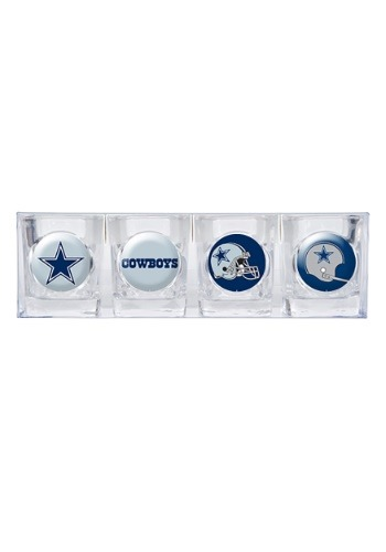 Four Piece NFL Dallas Cowboys 2 oz Collector's Shot Glasses