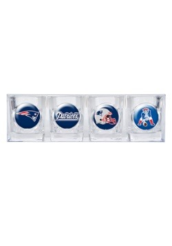 NFL New England Patriots Four Piece Collector's Shot Glasses