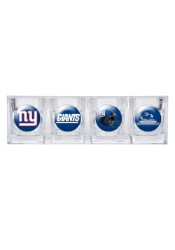 NFL New York Giants 2oz Four Piece Collectors Shot Glass Set