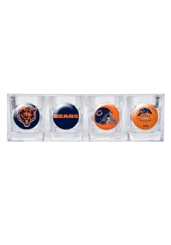 2 oz Four Piece NFL Chicago Bears Collector's Shot Glass Set