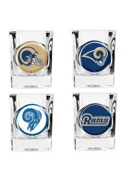 NFL Los Angeles Rams Four Piece Collector's Shot Glass Set