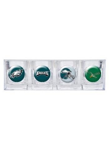 NFL Philadelphia Eagles 4 Piece Collectors Shot Glass Set