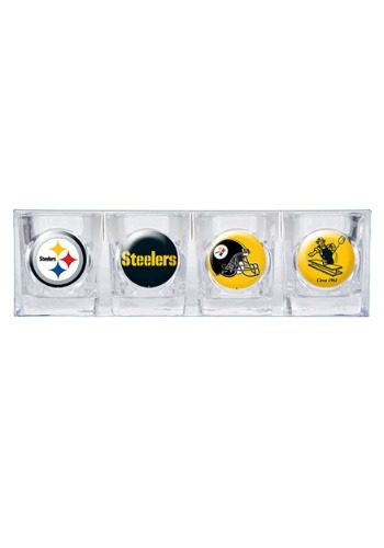 NFL Pittsburgh Steelers  4 Piece Collector's Shot Glass Set