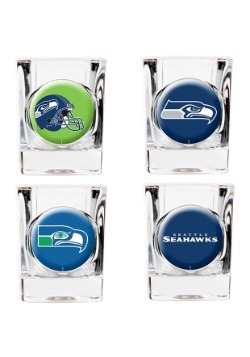 NFL Seattle Seahawks 4 Piece Collector's Shot Glass Set