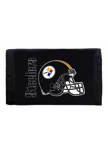 NFL Pittsburgh Steelers Nylon Tri-Fold Wallet
