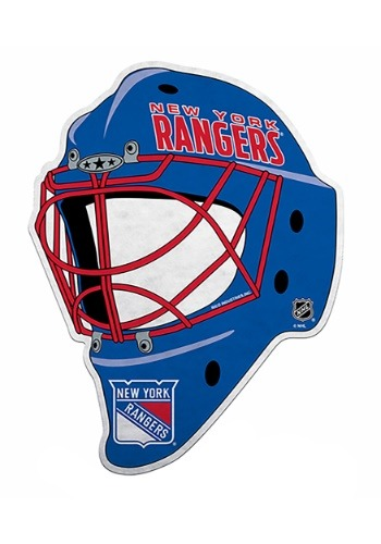 NHL New York Rangers Die Cut Goalie Mask Pennant