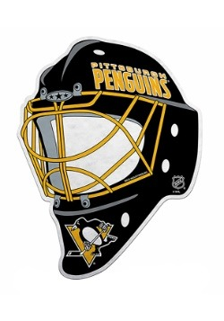 NHL Pittsburgh Penguins Die Cut Goalie Mask Pennant