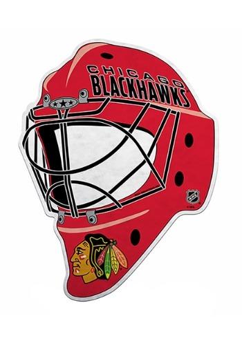 NHL Chicago Blackhawks Die Cut Goalie Mask Pennant