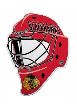 NHL Chicago Blackhawks Die Cut Goalie Mask Pennant
