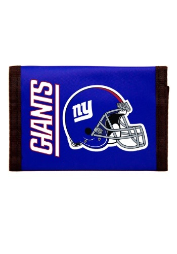 New York NFL Giants Nylon Tri-Fold Wallet