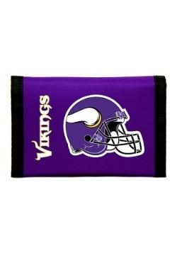 NFL Minnesota Vikings Nylon Tri-Fold Wallet