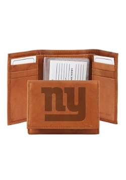 NFL New York Giants Genuine Leather Tri-Fold Wallet