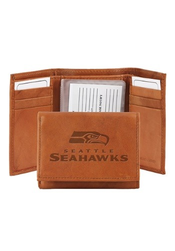 NFL Seattle Seahawks Genuine Leather Tri-Fold Wallet