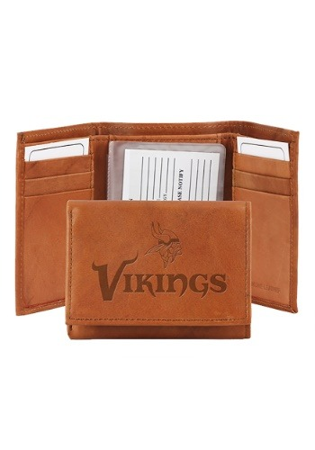 NFL Minnesota Vikings Genuine Leather Tri-Fold Wallet