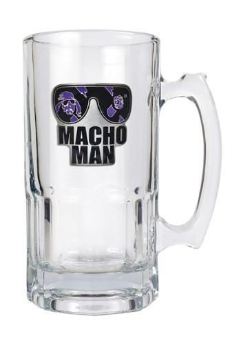 WWE Macho Man 32 oz Macho Glass Mug