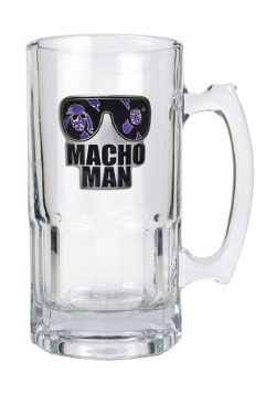 WWE Macho Man 32 oz Macho Glass Mug