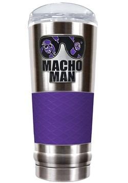 WWE Macho Man 24 oz Stainless Steel Tumbler w/ Silicone Grip