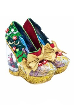 Irregular Choice Women's Santa's Globe Wedge Shoes Update Ma