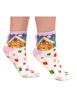 Irregular Choice Womens Santa's Grotto White Socks