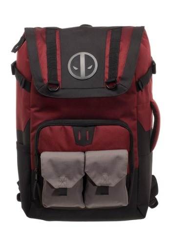 Deadpool Black/Red Backpack