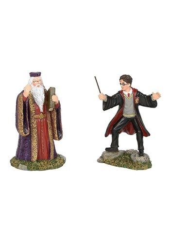 Harry And The Headmaster Harry Potter Village Figurine Set