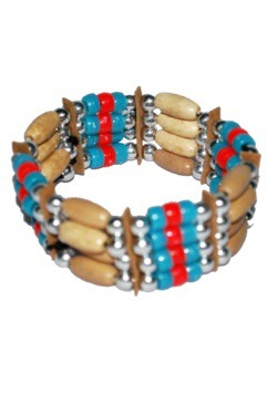 Blue Bead Native Bracelet