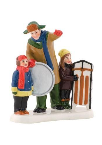 Department 56 Christmas Vacation Bingo Sledding Figurine