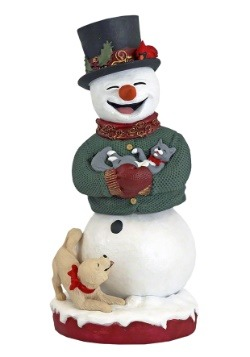 Royal Bobbles Resin Snowman Bobblehips Figure