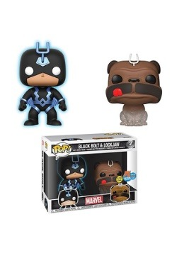 Marvel Inhumans Lockjaw & Glow-in-the-Dark Black Bolt Pop!