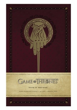 Game of Thrones Hand of the King Hardcover Ruled Journal