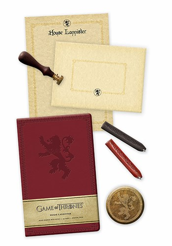 Game of Thrones: House Lannister Deluxe Stationery Set 1