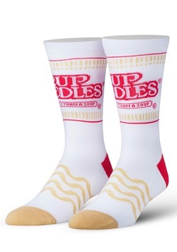 Adult Odd Sox Cup of Ramen Noodles Knit Socks
