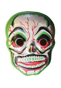 "Green Slime Skull Vacuform 23"" Wall Hanger Décor"