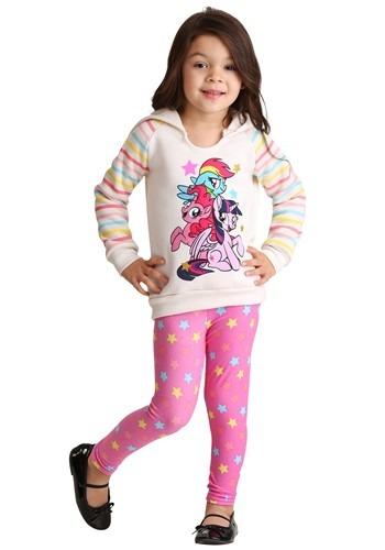 My Little Pony Girl's 2 Piece Star Print Top & Legging Set