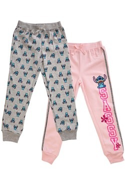 Girl's 2 Pack of Lilo & Stitch Sassy Joggers Update Main