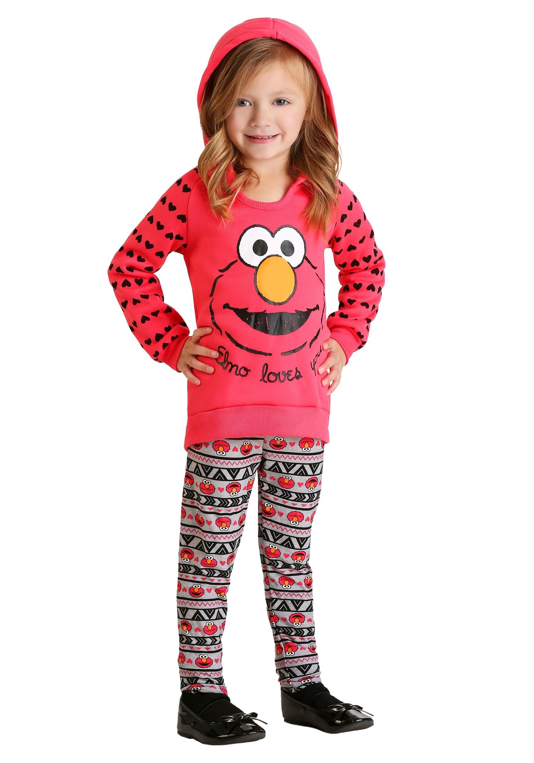 8d9464bbe1dbd Elmo Loves You 2 Piece Girl's Legging Set