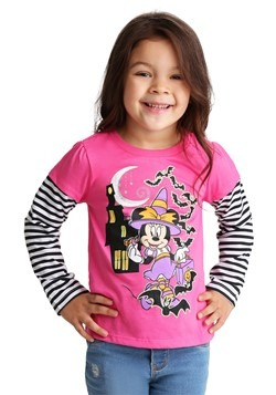 Girls Toddler Minnie Mouse Halloween Long Sleeve Tee