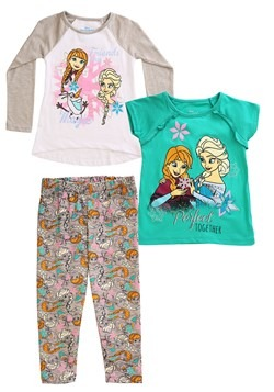 Frozen 3 Piece Friends are Magic Tops & Legging Set Update M