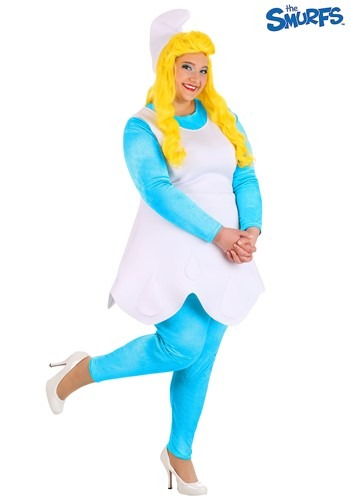 The Smurfs Women's Plus Size Smurf Smurfette Costume