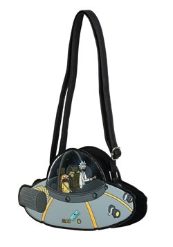 Loungefly Rick and Morty Spaceship Faux Leather Crossbody