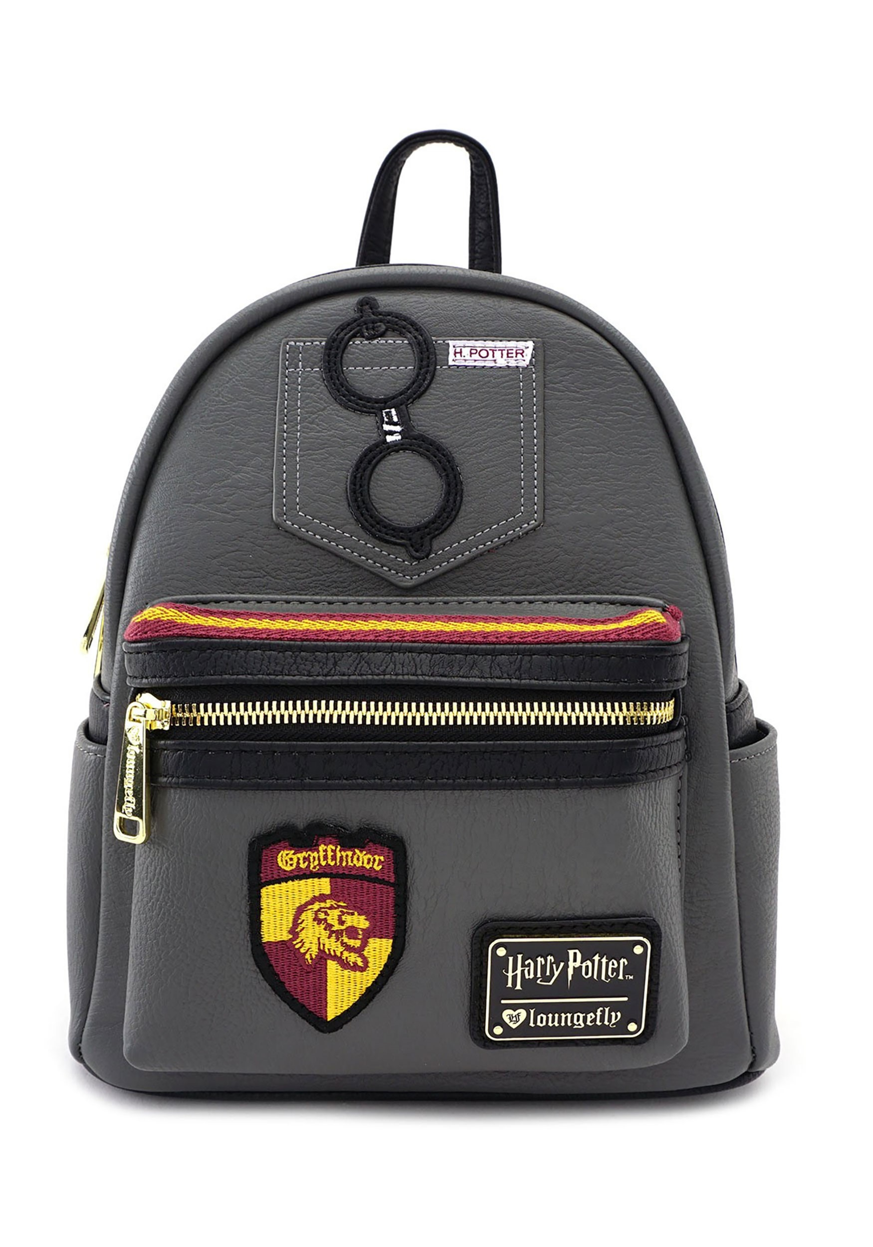 91b3c0cac49 Loungefly Harry Potter Gryffindor Faux Leather Mini Backpack