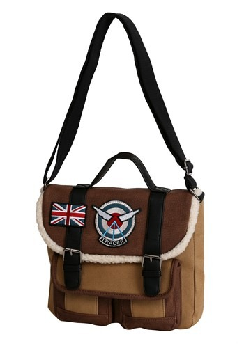 Loungefly Overwatch Tracer Distressed Faux Leather Crossbod