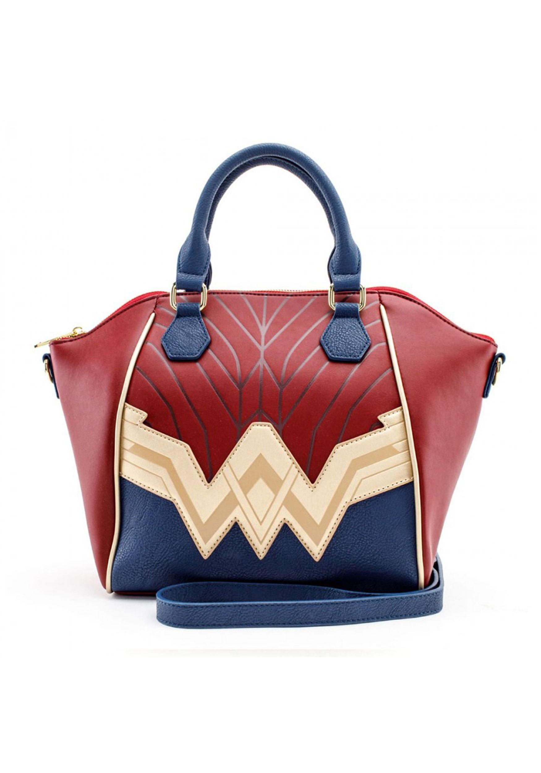 Loungefly Faux Leather Wonder Woman Saffiano Crossbody Bag
