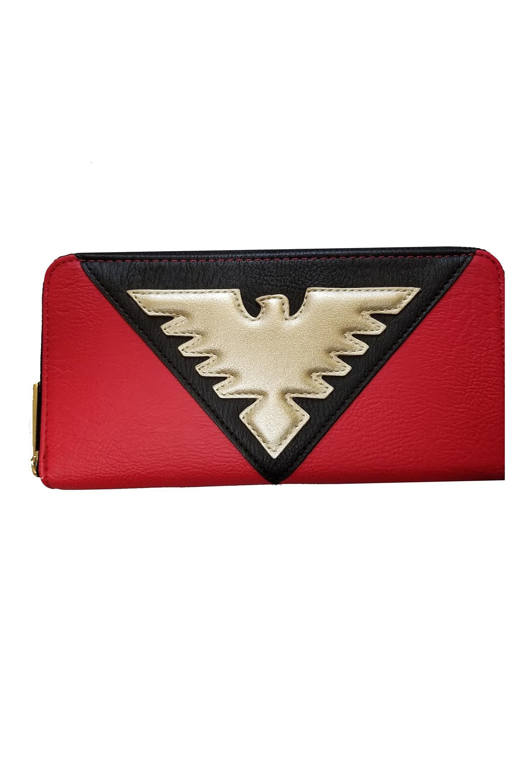 X Men Red Phoenix Faux Leather Zip Around Wallet By Loungefly