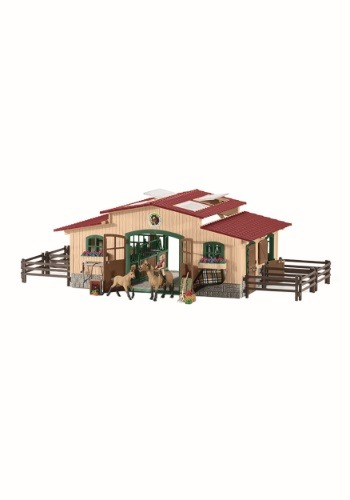 Stable w/ Horses & Accessories Playset