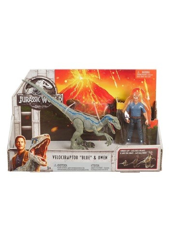 Jurassic World Velociraptor Blue & Owen Action Figure 2-Pack